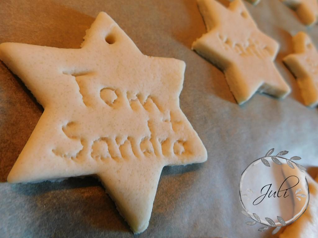 Geschenkanhänger aus Salzteig